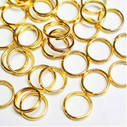 Double rings 6,5mm ~ 40pcs. (8004)