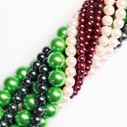 Glass beads strands (Electroplating)