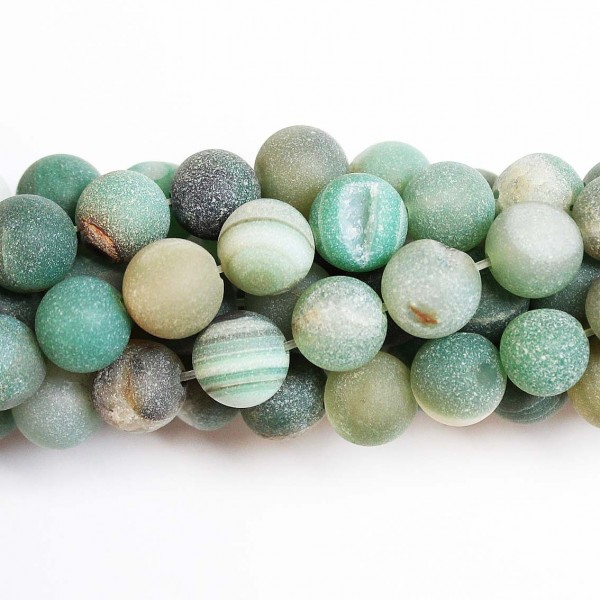 Beads Agate druzy 10mm (0210004D)
