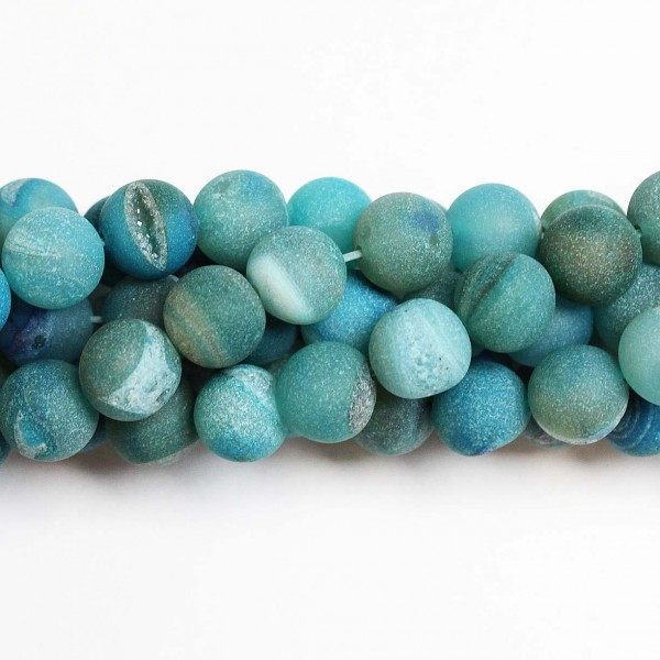 Beads Agate druzy 10mm (0210007D)