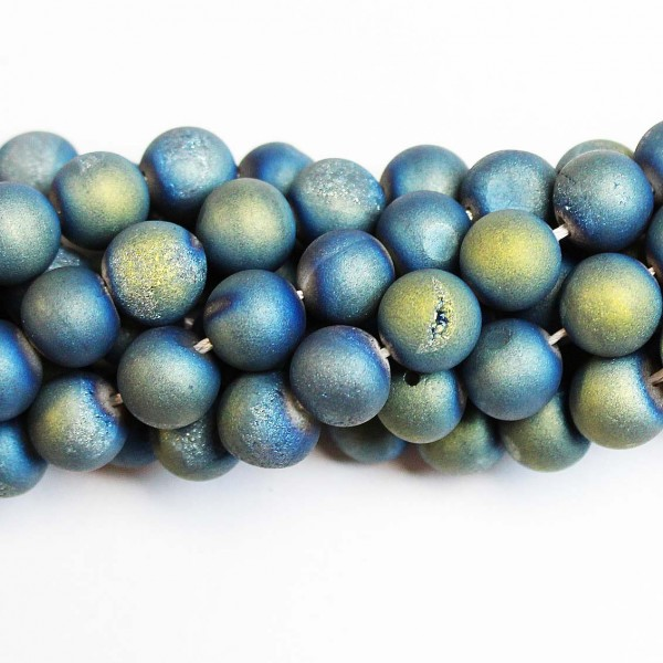Beads Agate druzy 10mm (0210010D)