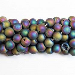 Beads Agate druzy 10mm (0210012D)