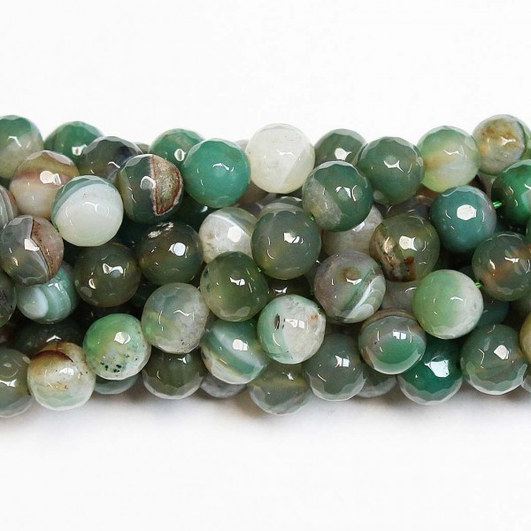 Beads Agate-faceted 10mm (0210017G)