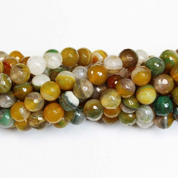 Beads Agate-faceted 10mm (0210018G)
