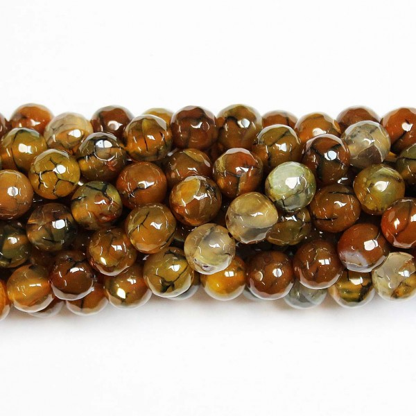 Beads Agate-faceted 10mm (0210019G)