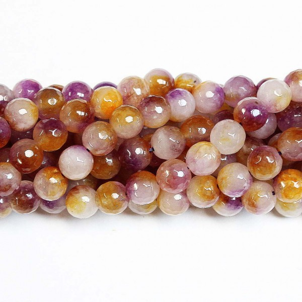 Beads Agate-faceted 10mm (0210033G)