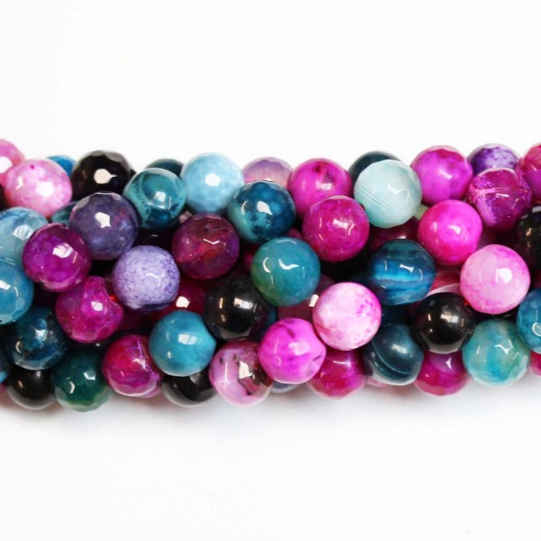 Beads Agate-faceted 10mm (0210034G)