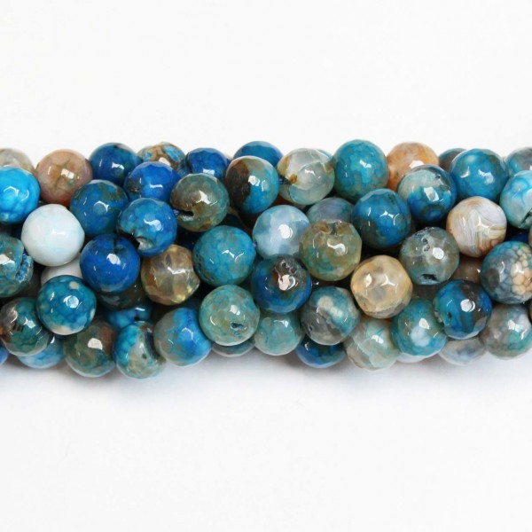 Beads Agate-faceted 10mm (0210038G)
