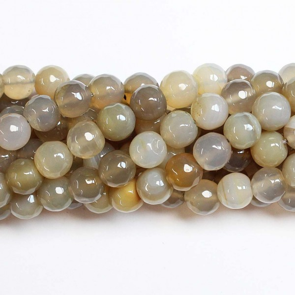 Beads Agate-faceted 10mm (0210040G)