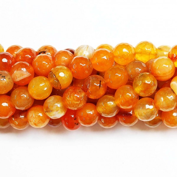 Beads Agate-faceted 10mm (0210058G)