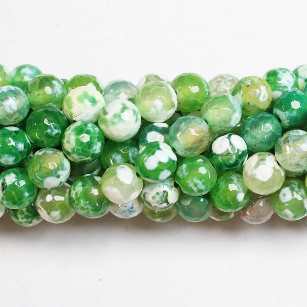 Beads Agate-faceted 10mm (0210059G)