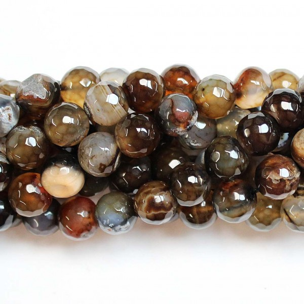 Beads Agate-faceted 10mm (0210061G)