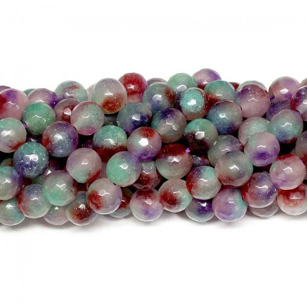 Beads Agate-faceted 10mm (0210089G)