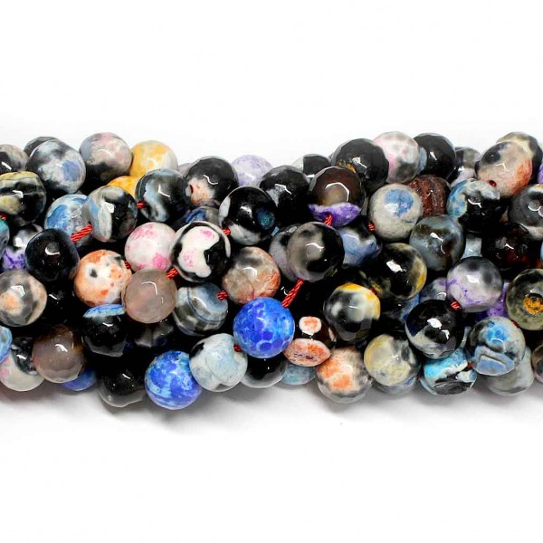 Beads Agate-faceted 10mm (0210091G)