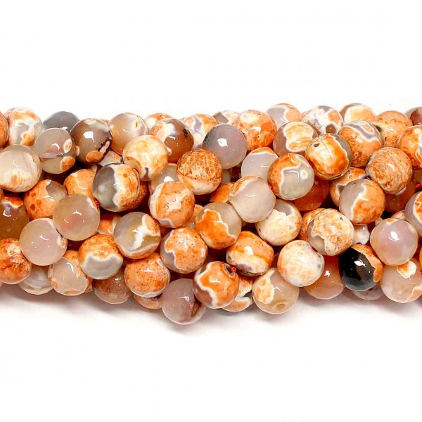 Beads Agate-faceted 10mm (0210112G)