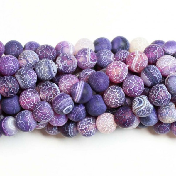 Beads Agate-frosted 10mm (0210007M)