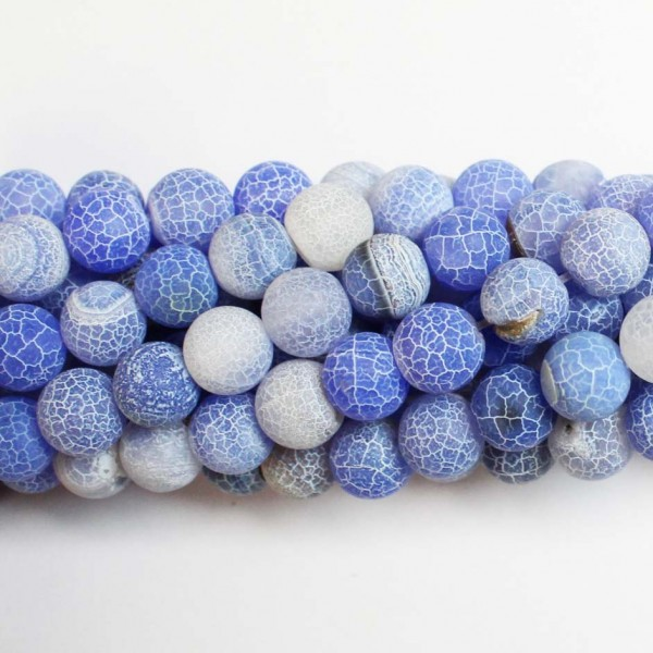 Beads Agate-frosted 10mm (0210008M)