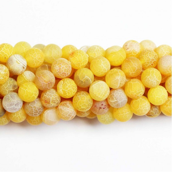 Beads Agate-frosted 10mm (0210014M)