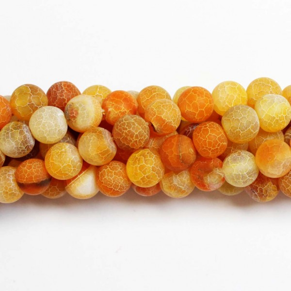 Beads Agate-frosted 10mm (0210018M)