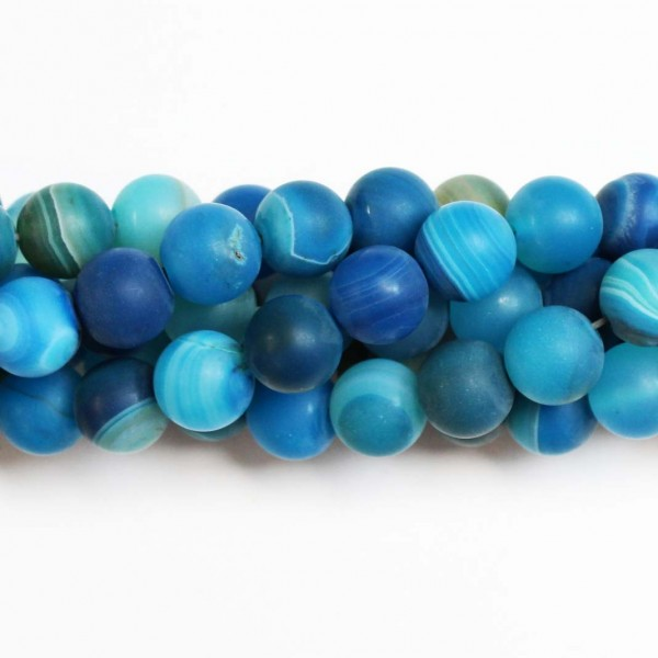 Beads Agate-frosted 10mm (0210021M)