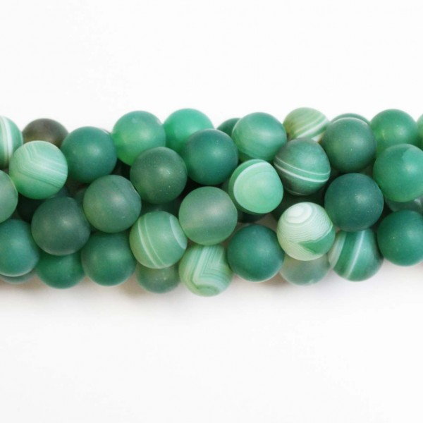 Beads Agate-frosted 10mm (0210022M)