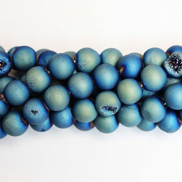 Beads Agate druzy 12mm (0212009D)