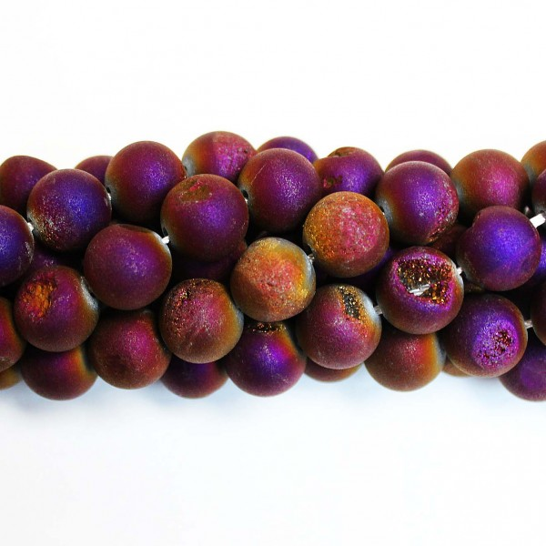 Beads Agate druzy 12mm (0212010D)