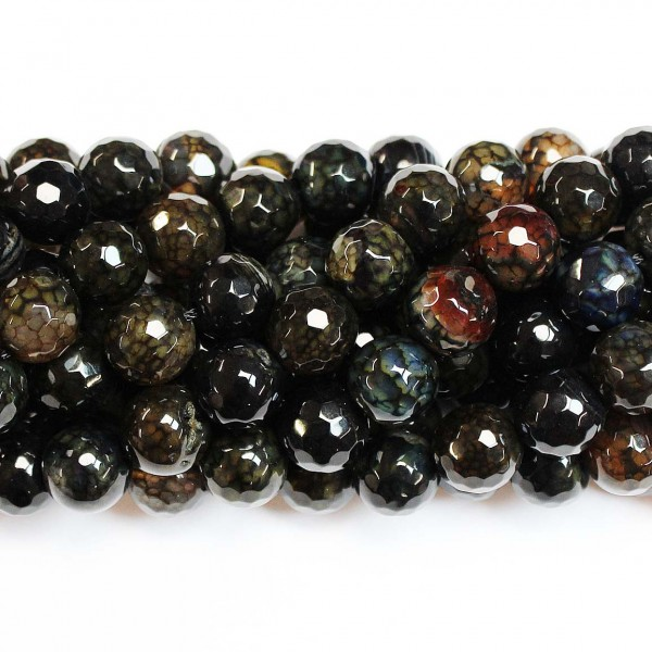 Beads Agate-faceted 12mm (0212018G)
