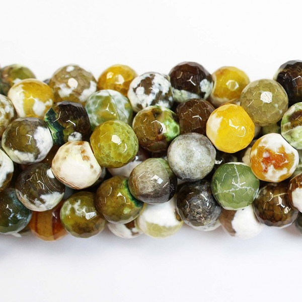 Beads Agate-faceted 12mm (0212020G)