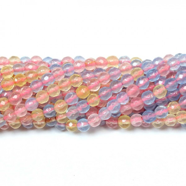 Beads Agate-faceted 4mm
