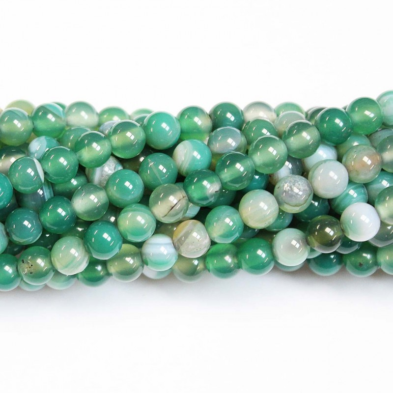 Pcs Gemstones Jewellery Making Frosted Cracked Agate Round Beads 10mm Green 38