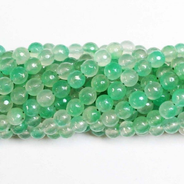 Beads Agate-faceted 8mm (0208034G)