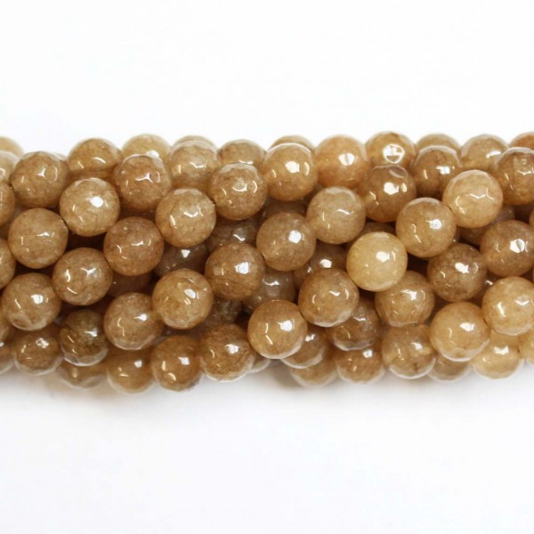 Beads Agate-faceted 8mm (0208035G)