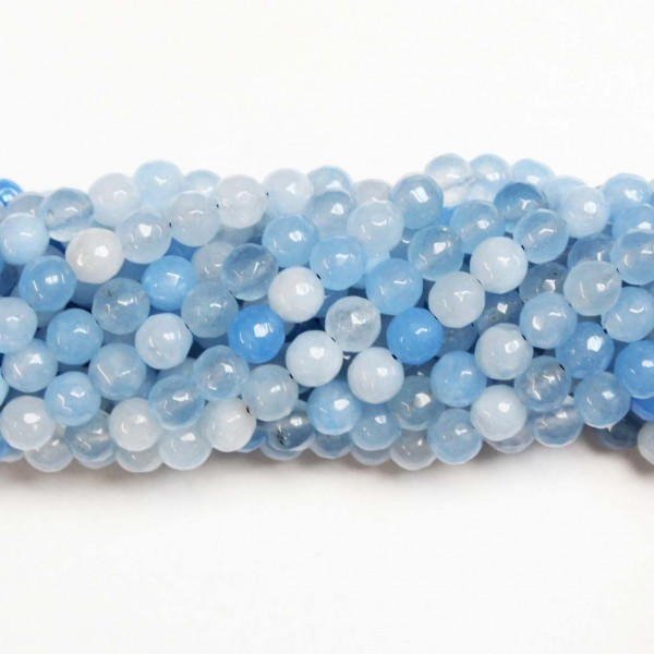Beads Agate-faceted 8mm (0208039G)