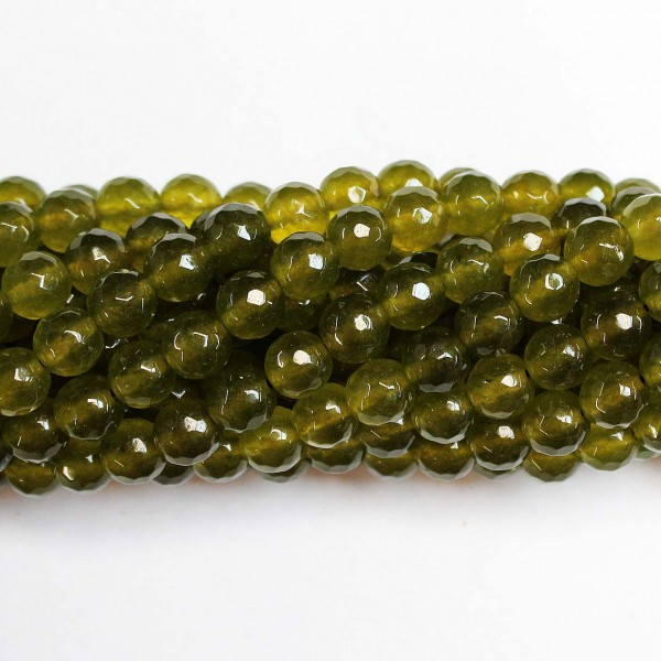 Beads Agate-faceted 8mm (0208045G)
