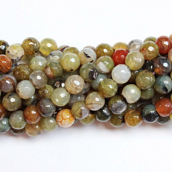 Beads Agate-faceted 8mm (0208049G)