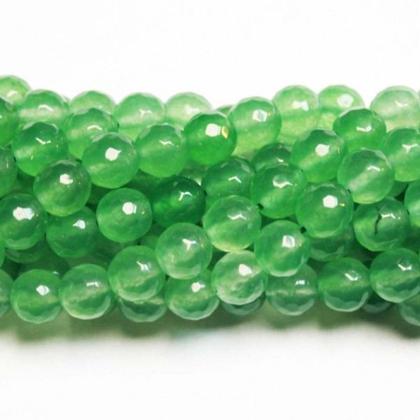 Beads Agate-faceted 8mm (0208023G)