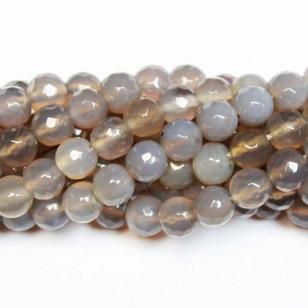 Beads Agate-faceted 8mm (0208033G)