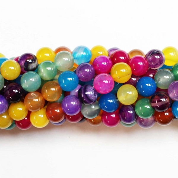 Beads Agate 8mm (0208023)
