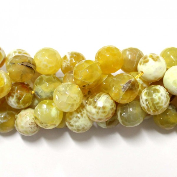 Beads Agate-faceted 14mm (0214003G)