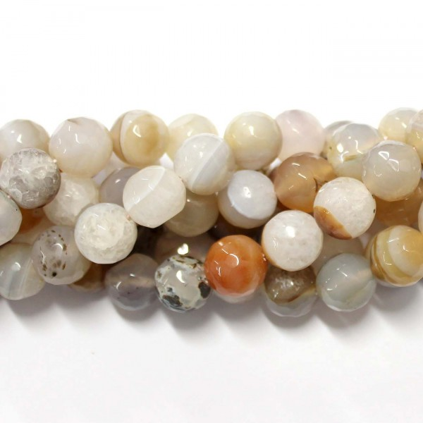 Beads Agate-faceted 14mm (0214006G)