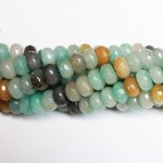 Beads Amazonite-faceted 10x6mm (0510010G)