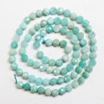 Beads Amazonite-faceted 4,5mm
