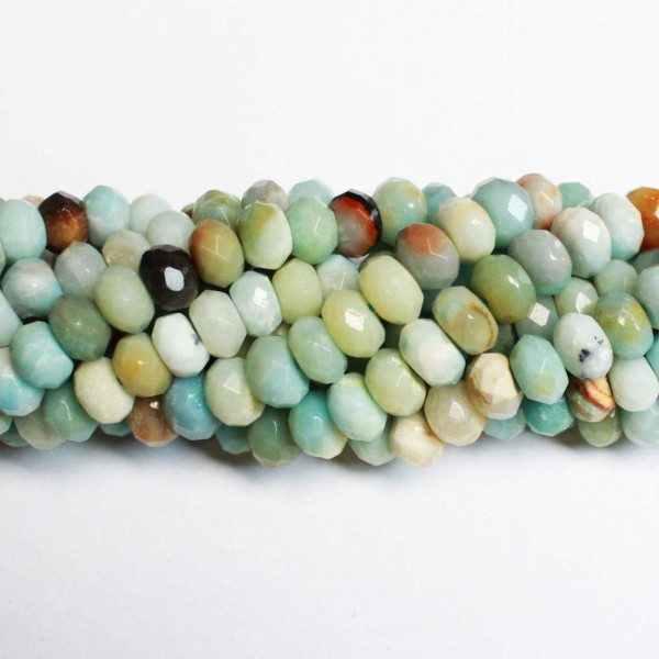 Beads Amazonite-faceted 8x5mm (0508010G)