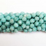 Beads Amazonite-faceted 8x8mm