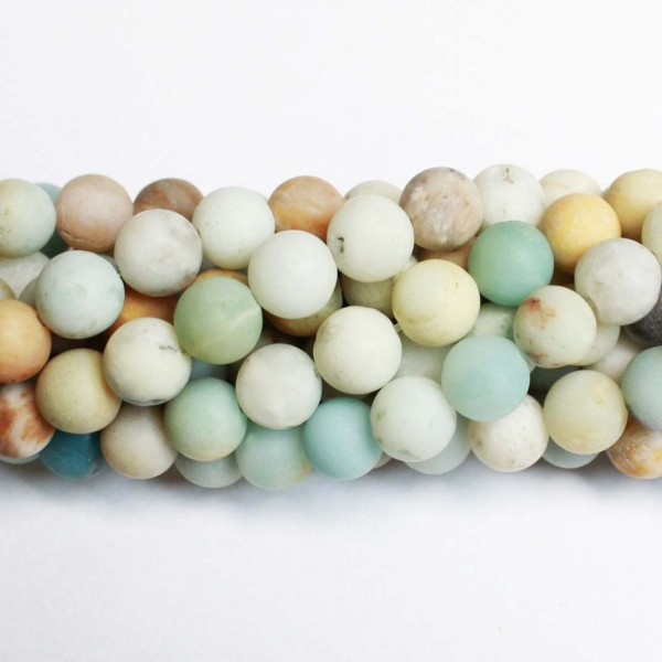 Beads Amazonite-frosted 8,5mm (0508000M)