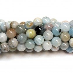 Beads Aquamarine 8mm (0408001)