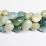 Beads Aquamarine ~18x14mm (0418000)