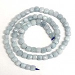 Beads Aquamarine-faceted 5x5mm (0405000G)