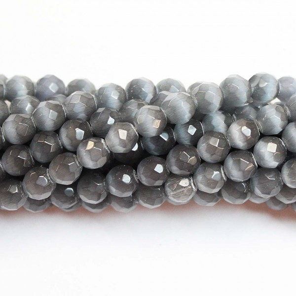 Beads Cat eye-faceted 6mm (1806000G)